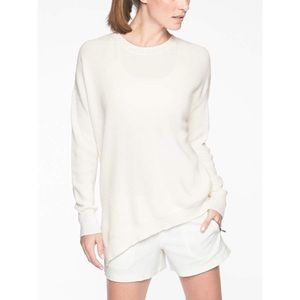 Athleta Rest Day Asymmetrical Knit Sweater